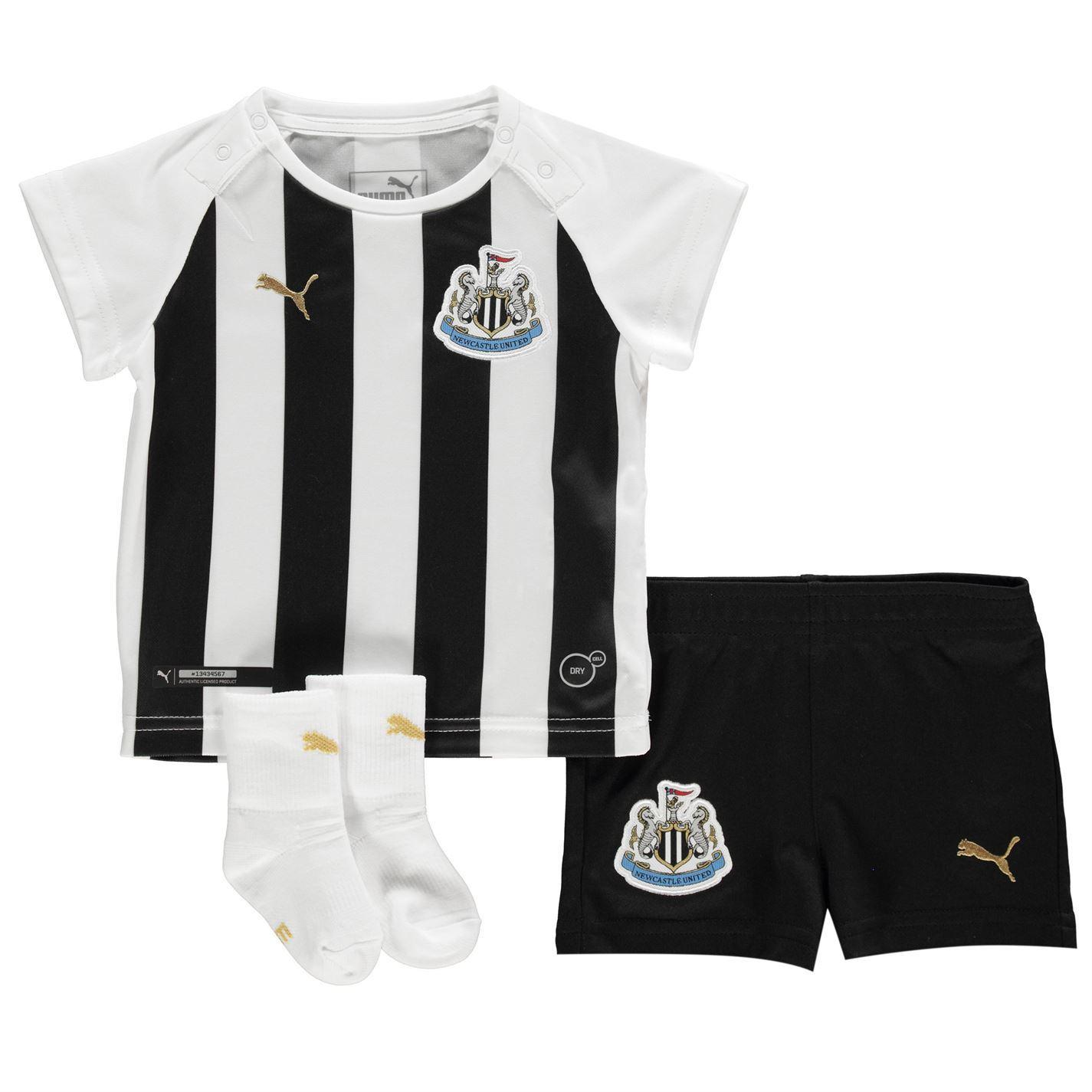 22acde83253d ... Puma Newcastle United Home Baby Kit 2018 19 Black White Football Soccer  Strip ...