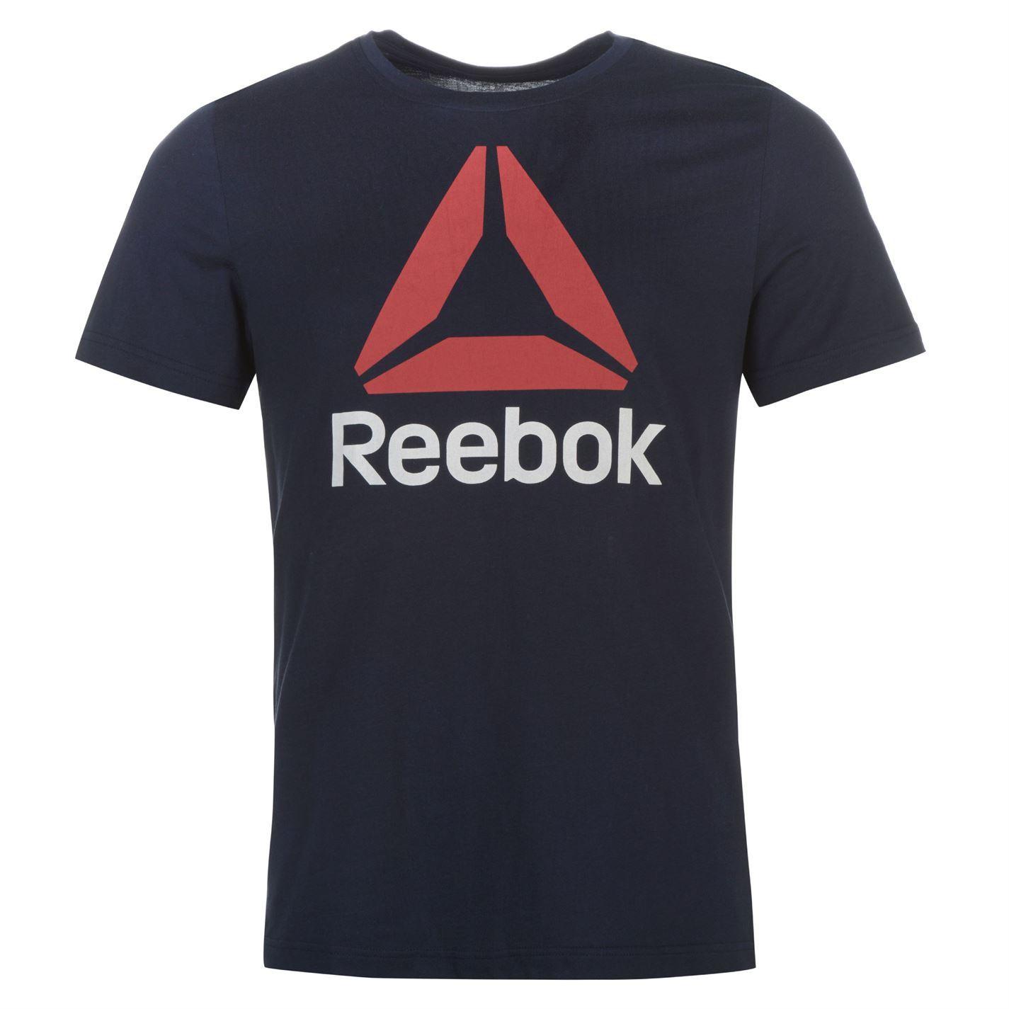 Reebok-Stack-Delta-Logo-T-Shirt-Mens-Tee-Shirt-Top thumbnail 18