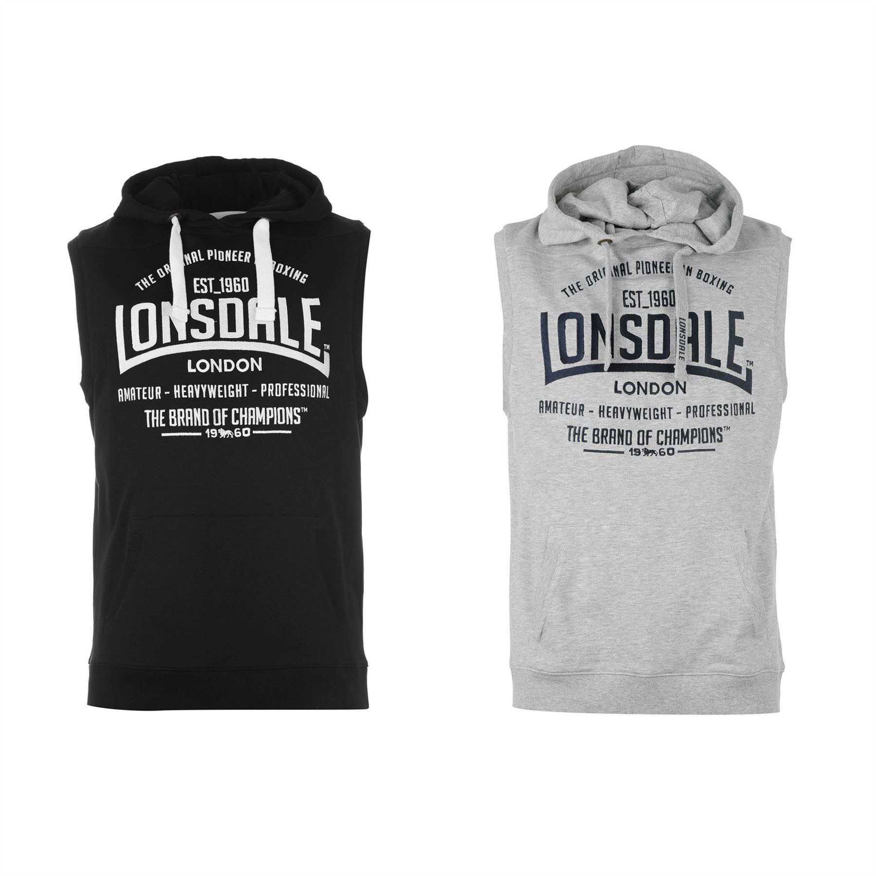 180ad1743e ... Lonsdale London Box Sleeveless Pullover Hoody Mens OTH Hoodie  Sweatshirt Sweater ...
