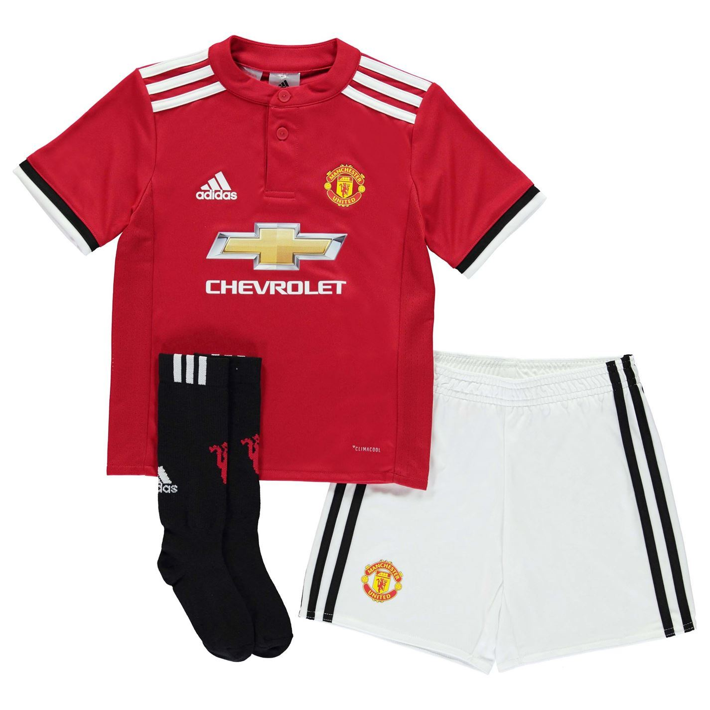 c00a9aa35c2 adidas Manchester United Home Mini Kit 2017-18 Infants Red Football Soccer  Strip