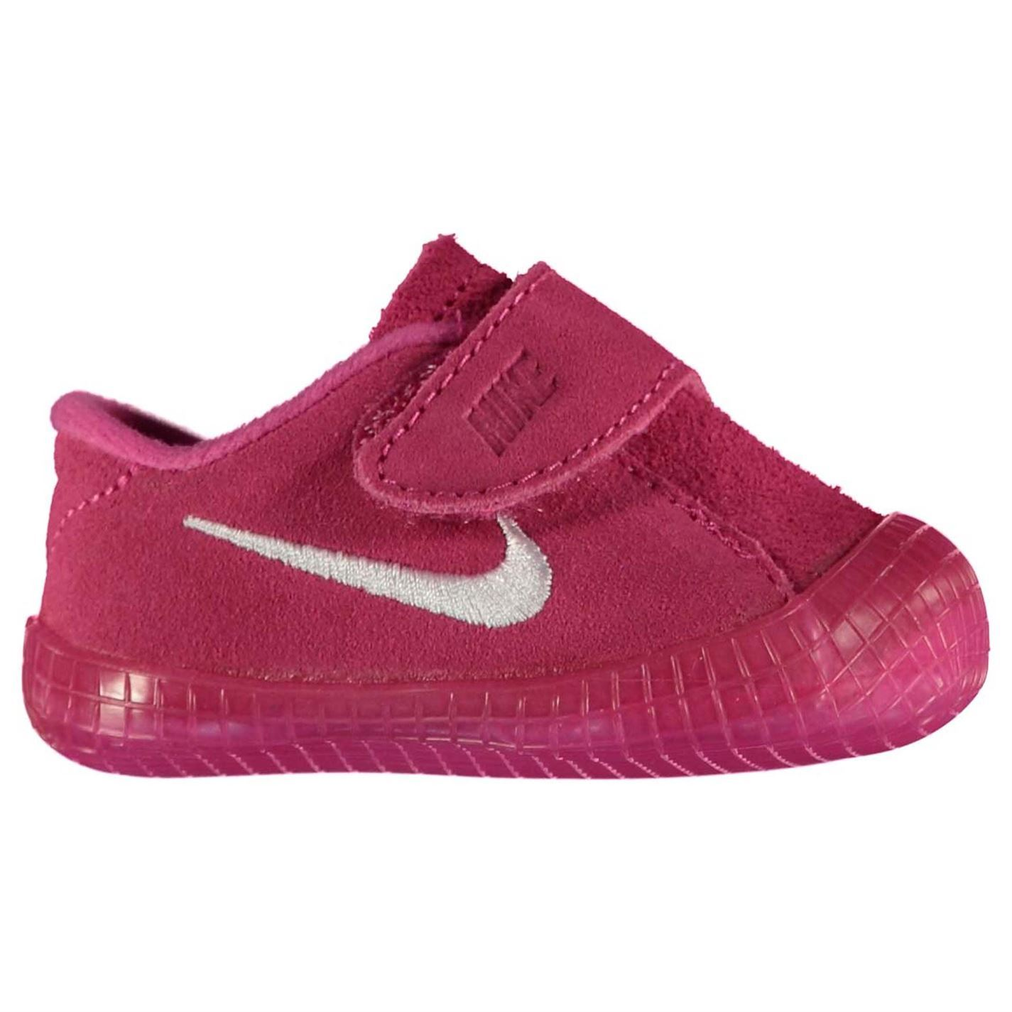 eab432835412 ... Nike Waffle 1 Crib Shoes Infant Baby Girls Pink White Babies Booties  Footwear ...