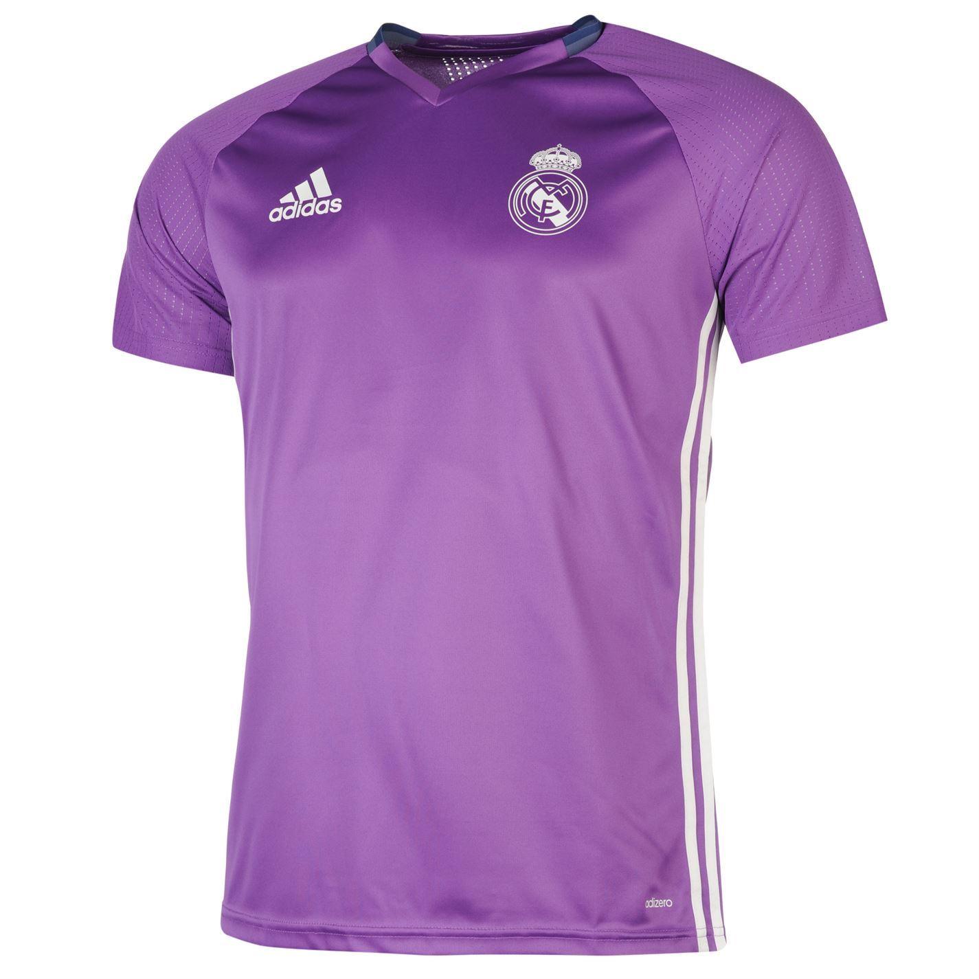 Adidas Real Madrid Training Jersey Mens Purple Football Soccer Top Shirt 9a5d40ecb