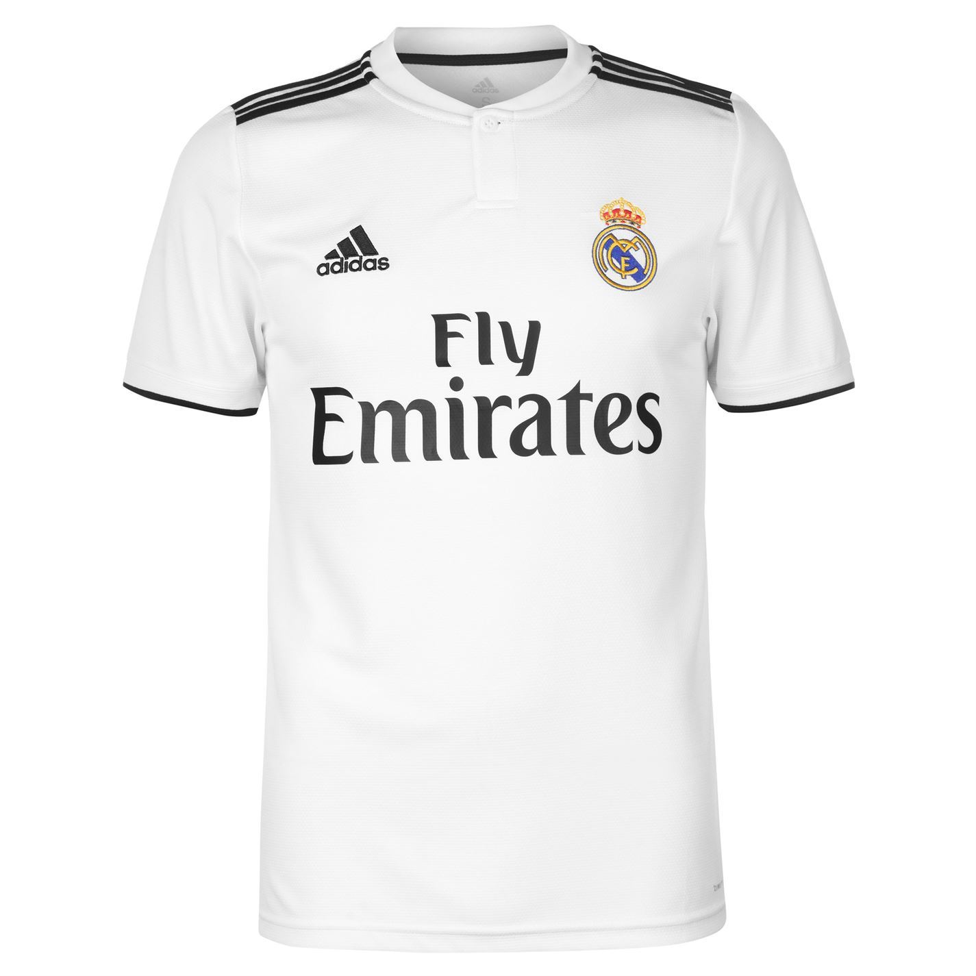 7b370a6f1 ... adidas Real Madrid Home Jersey 2018-19 Mens White Football Soccer Shirt  Top ...