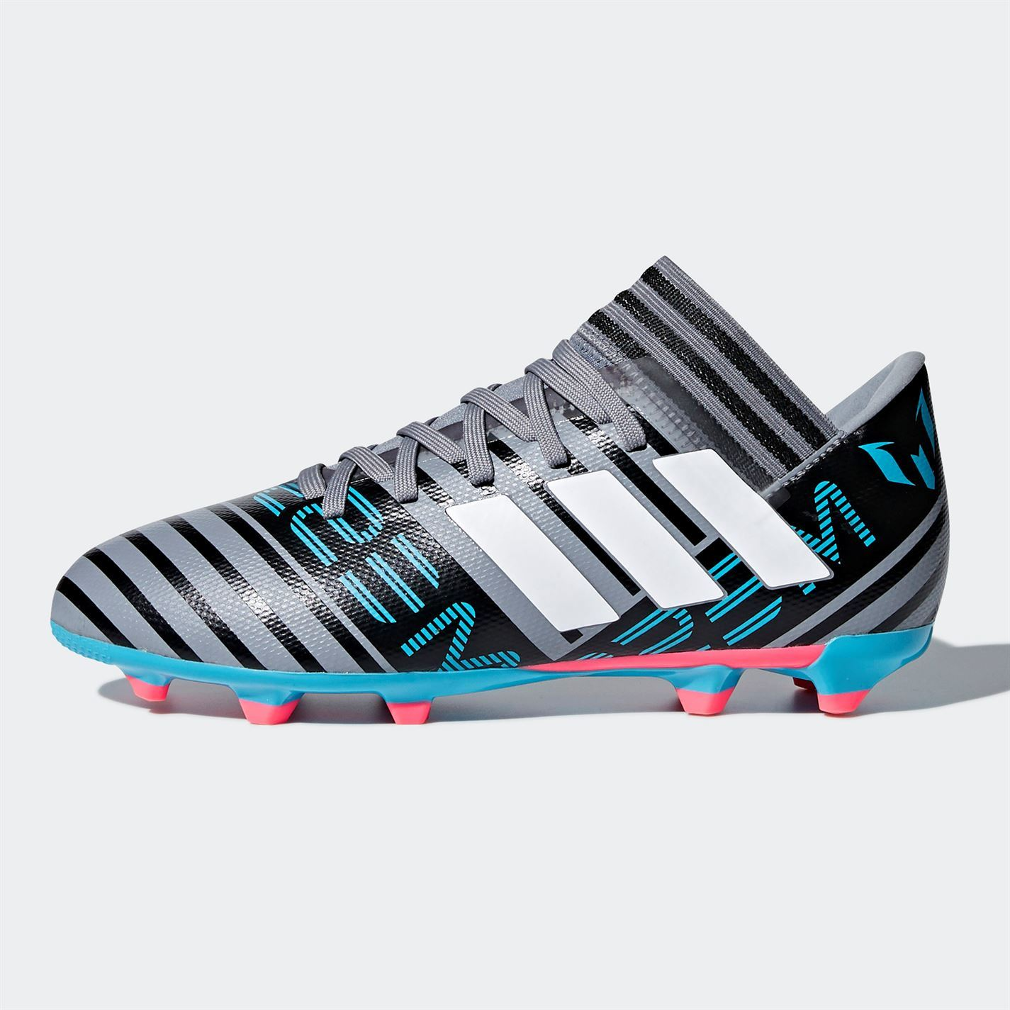 cd7df33f787ba ... Adidas Nemeziz Messi 1 7.3 FG fútbol botas Juniors gris negro Soccer  zapatos tacos ...