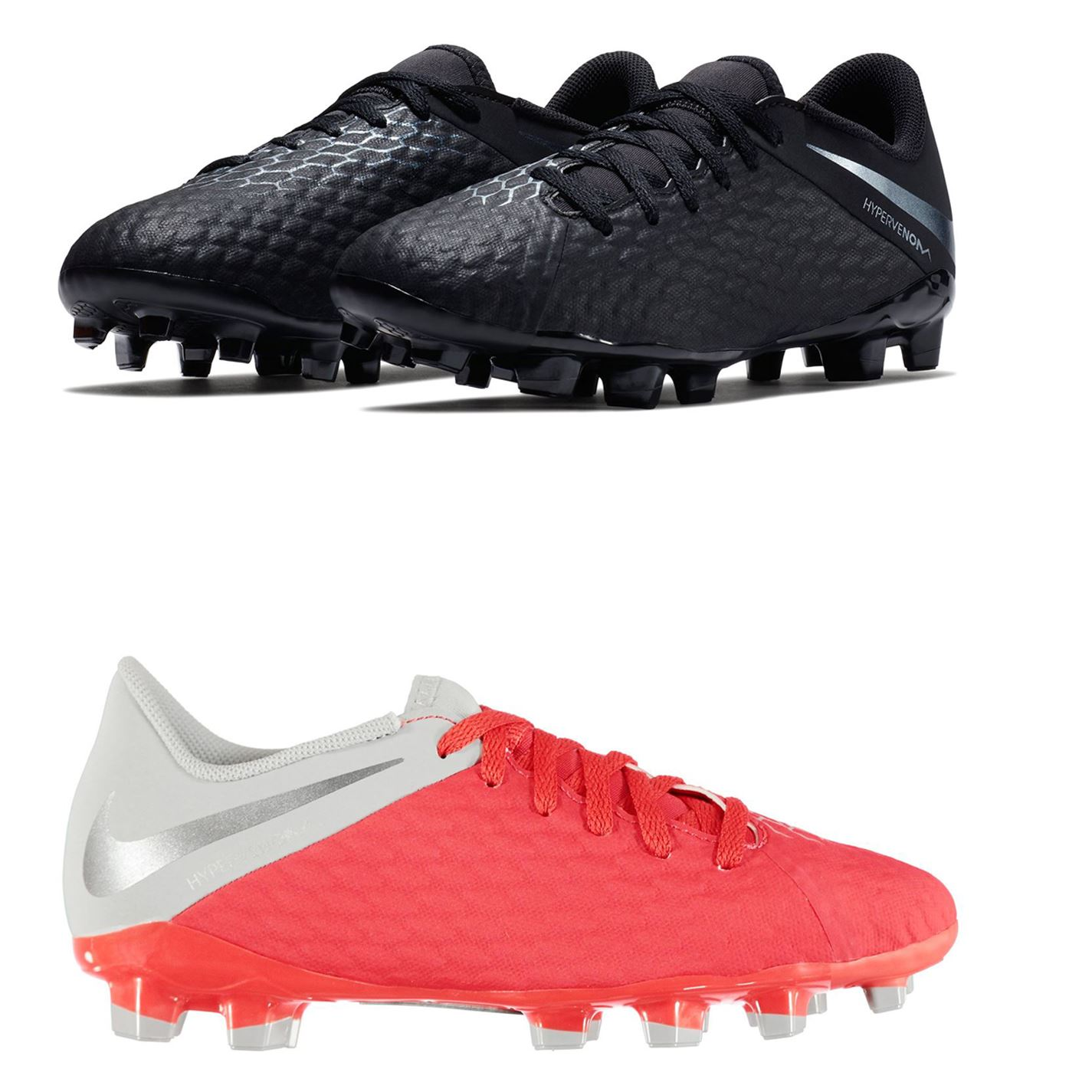 sports shoes 1985c 81aa9 Details about Nike Hypervenom Phantom Academy Firm Ground Football Boots  Childs Soccer Cleats