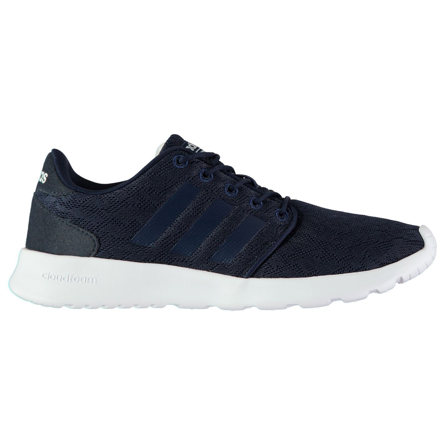 ... adidas Cloudfoam Racer Trainers Womens Navy White Sports Trainers  Sneakers ... d8bb0159c