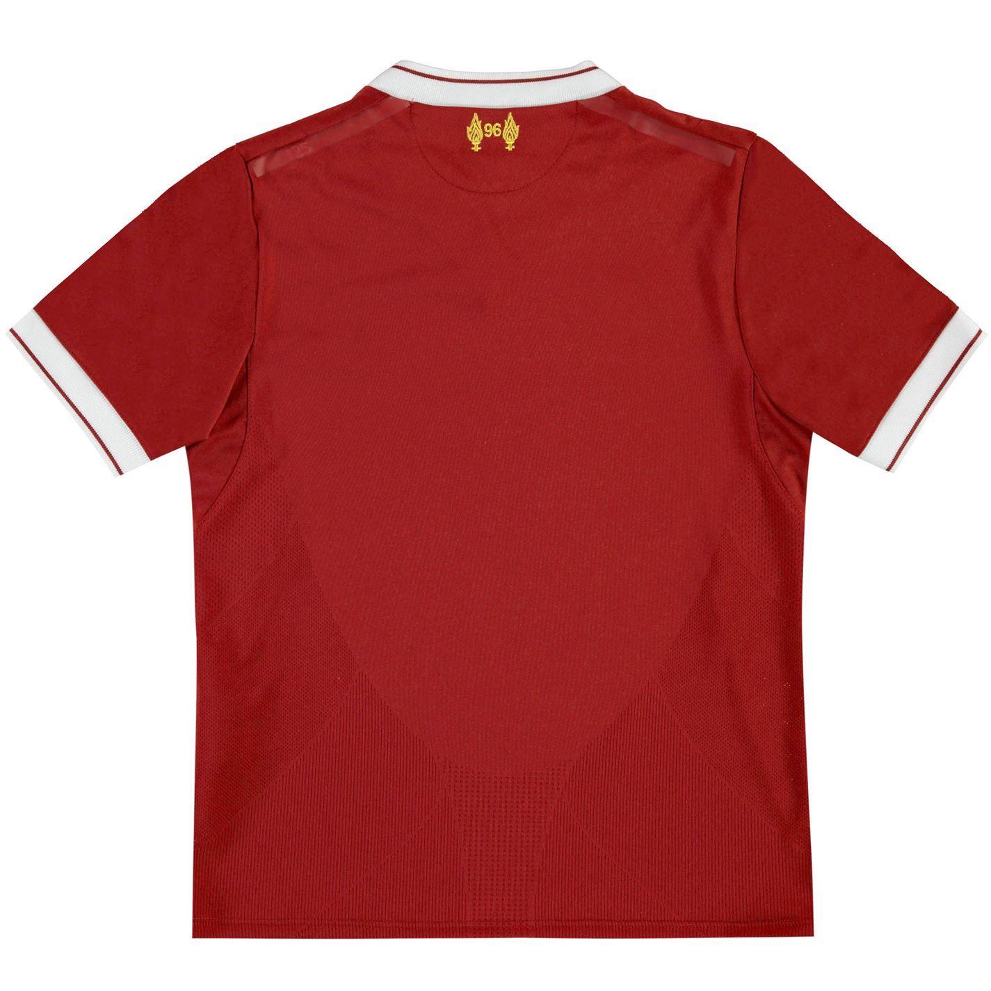hot sale online 6cd08 3af62 Details about New Balance Liverpool Home Jersey 2017 2018 Juniors Red  Football Soccer Shirt