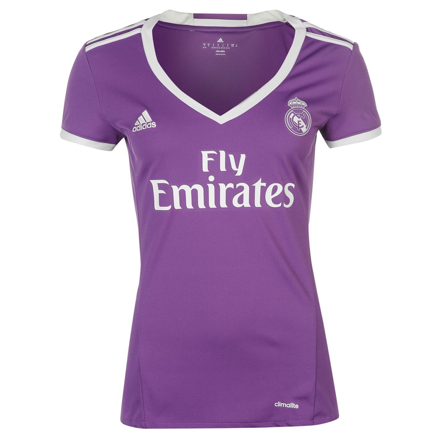adidas Real Madrid Away Jersey 2016-17 Womens Purple White Football Soccer  Shirt 2d4f65635