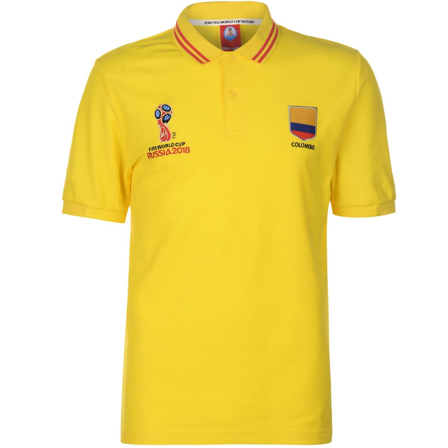 aeffec8b2 ... FIFA World Cup 2018 Colombia camisa de Polo para hombre amarillo fútbol  fútbol camiseta Top ...