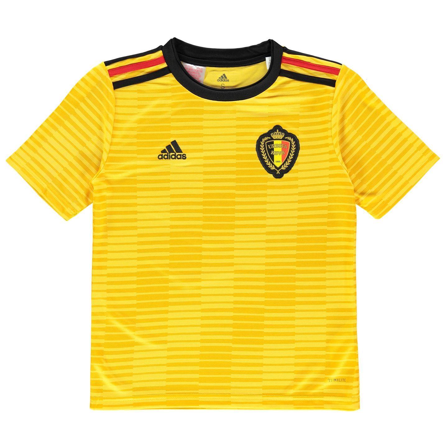 ... Adidas Bélgica a 2018 Juniors oro negro rojo fútbol fútbol camisa de  Jersey ... 79c5c937ba4d2