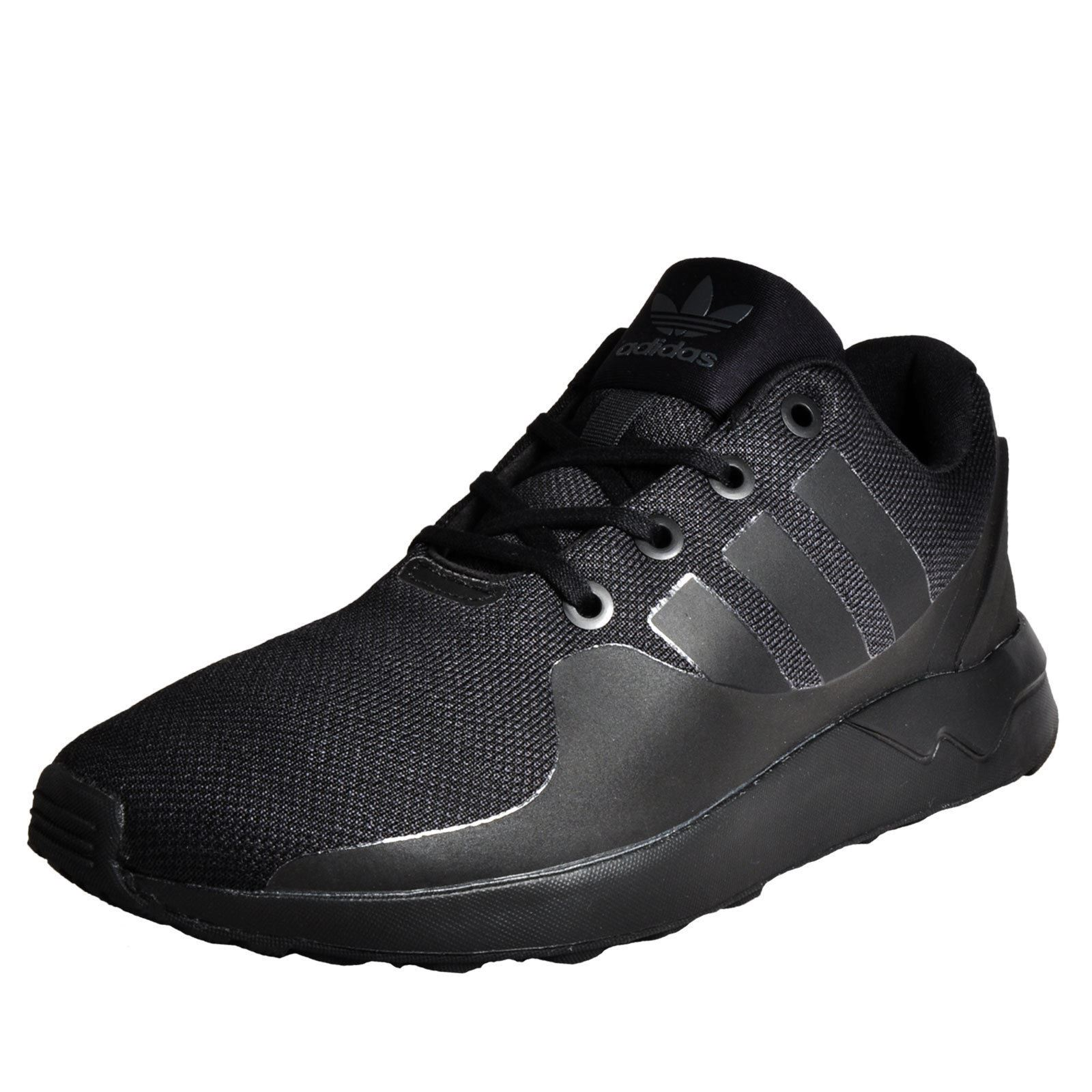 b25423568c9ec adidas Originals ZX Flux ADV Tech Trainers Mens Black Sneakers Shoes  Footwear