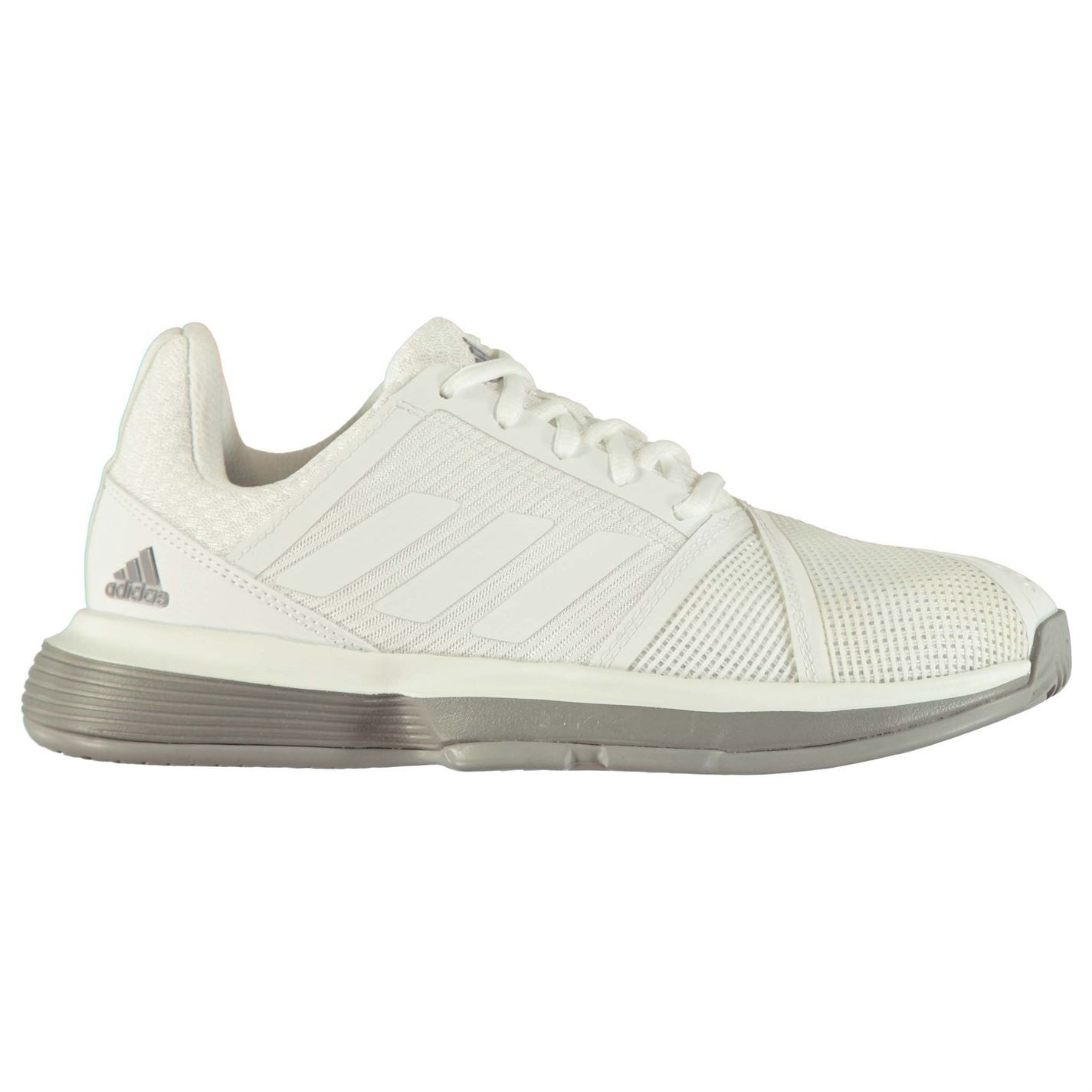Details about Adidas courtjam Bounce Womens Tennis Shoes White/Grey Ladies  Sports- show original title