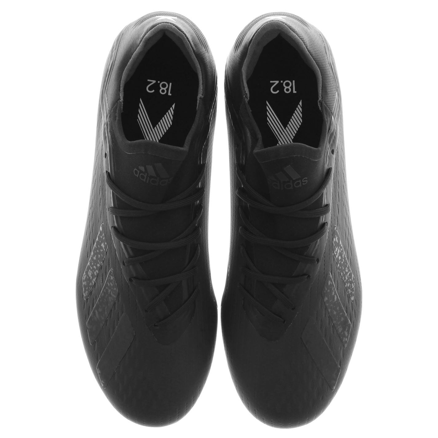 c98180a6adf ... adidas X 18.2 FG Firm Ground Football Boots Mens Black Soccer Shoes  Cleats