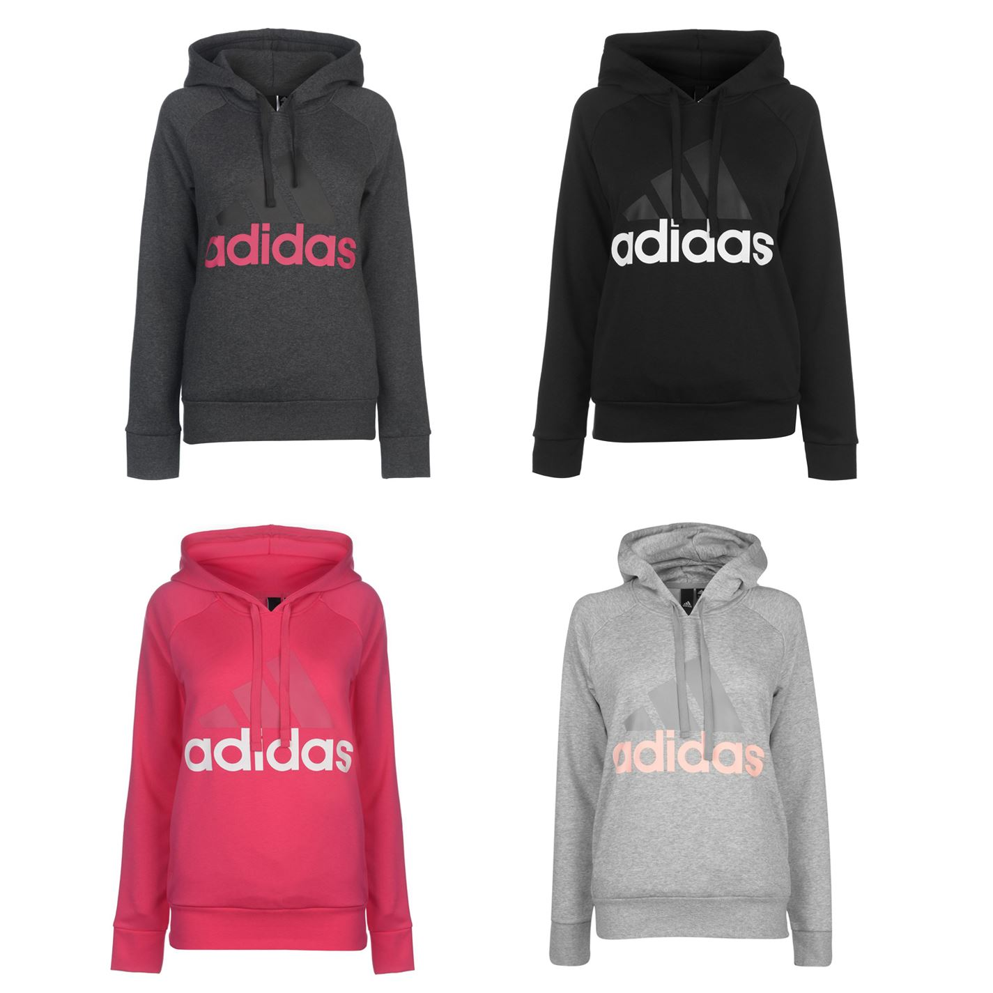 Details about adidas Linear OTH Hoody Ladies Drawstring Hooded Top Outerwear