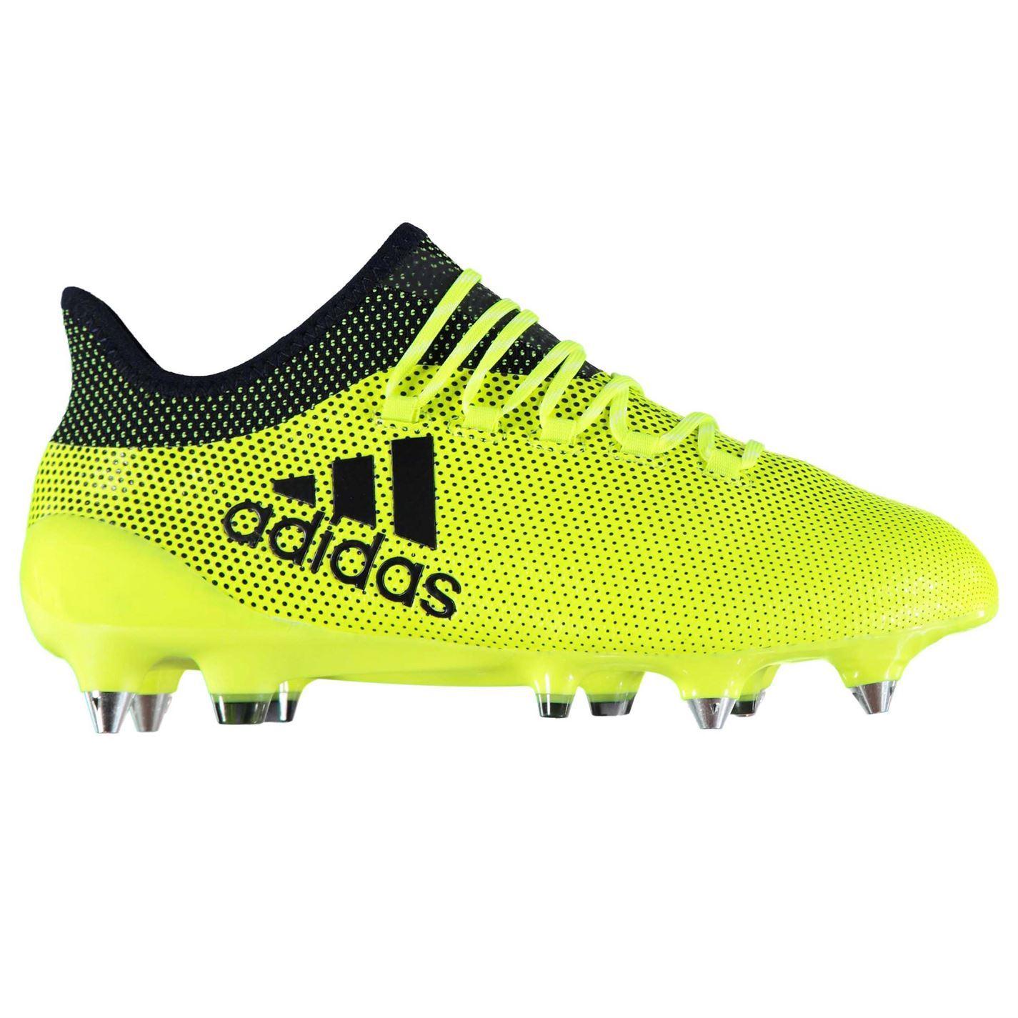 Dettagli su Adidas x 17.1 Sg Scarpe Calcio Terreno Morbido Uomo GialloInchiostro Tacchetti