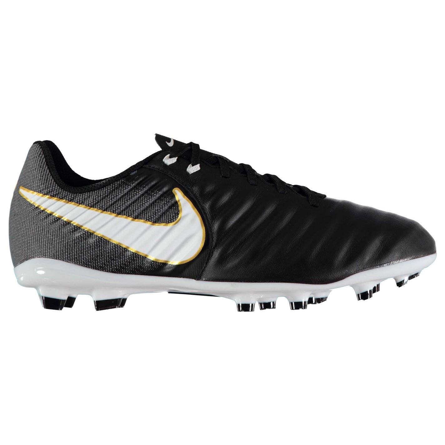 49007c50d46 ... Nike Tiempo Ligera Firm Ground Football Boots Juniors Black White Soccer  Cleats ...