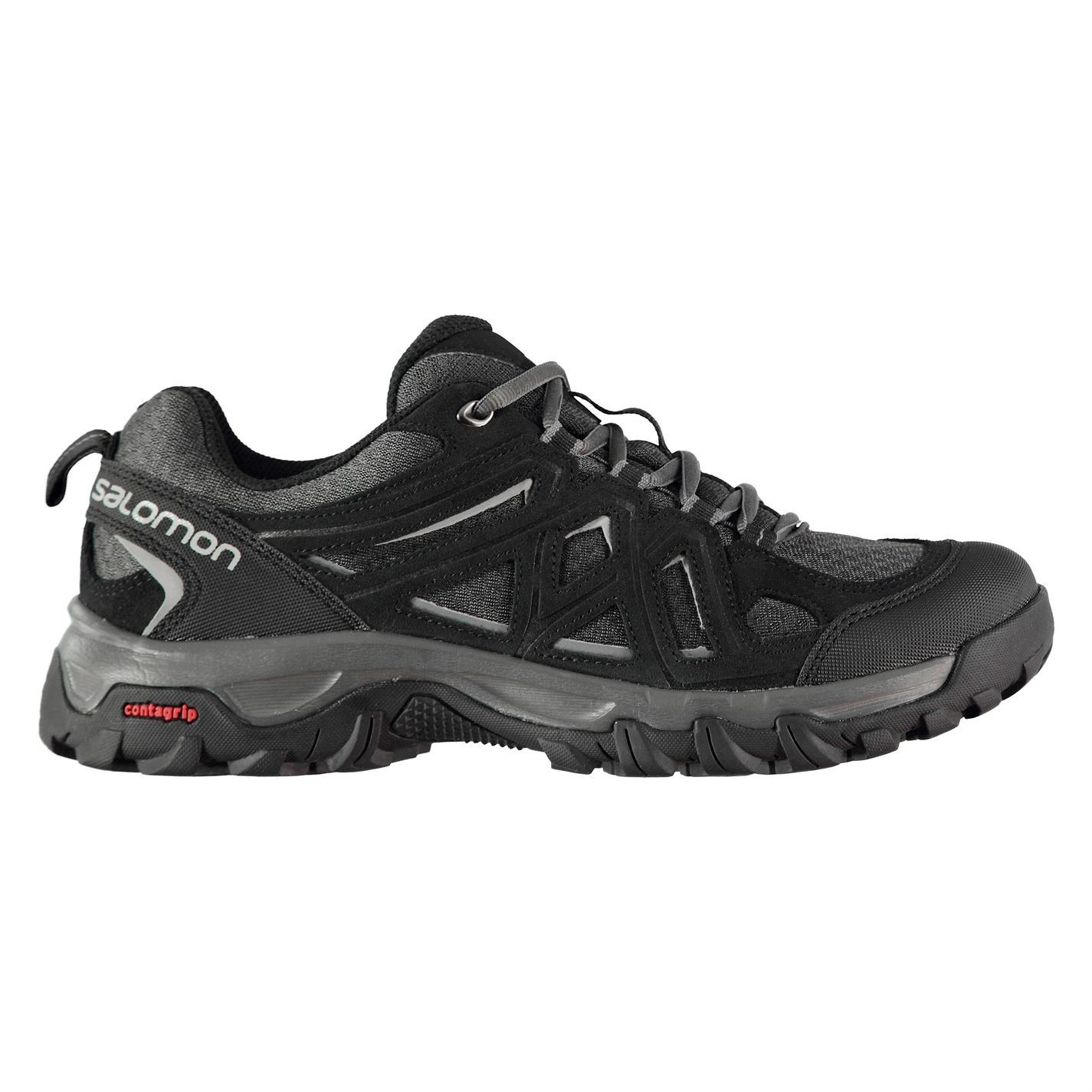 Details about Salomon Evasion 2 Aero Walking Shoes Mens Black Hiking Footwear Boots