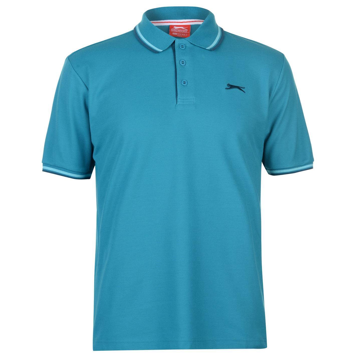 Slazenger-Polo-Camisa-de-hombre-con-cuello-con-Punta-T-Shirt-Top-Camiseta-Tee miniatura 71
