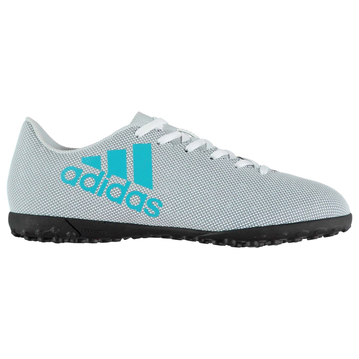 bc0f610e62b6 ... adidas X 17.4 AG Artificial Grass Trainers Mens Wht/Gry/Blue Football  Soccer ...