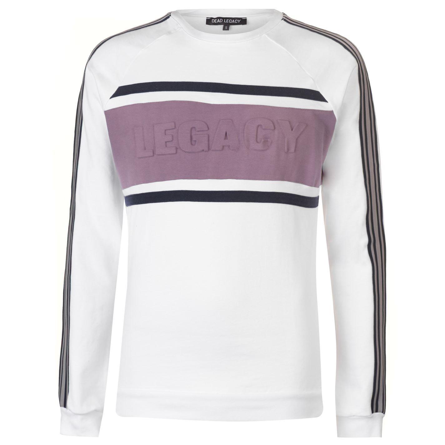 Dead Legacy Uomo Embossed Sweatshirt Uomo Legacy Sweater Top Jumper 9e0ca4