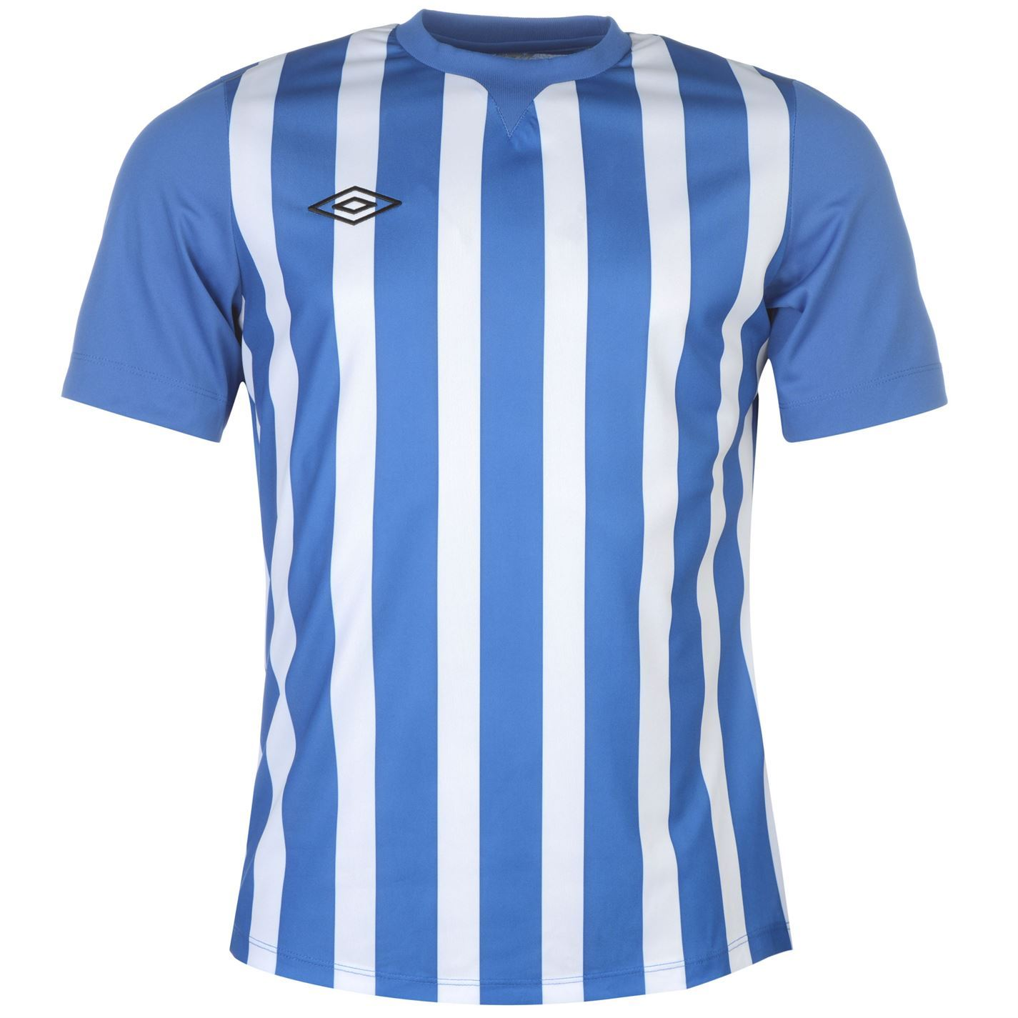 ... Umbro Stripe Training Jersey Mens Royal White Football Soccer Top  T-Shirt Shirt 38e9d4c5984e7