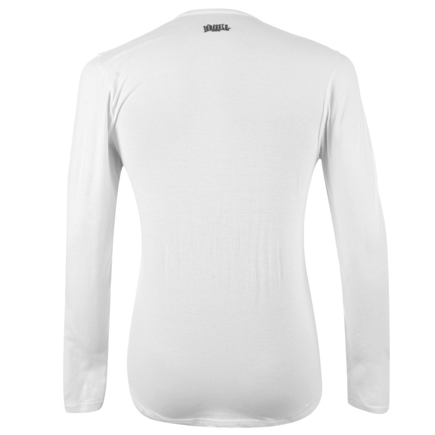 a6a86cc54ee Lonsdale Long Sleeve T Shirt Mens White Top Tee Tshirt