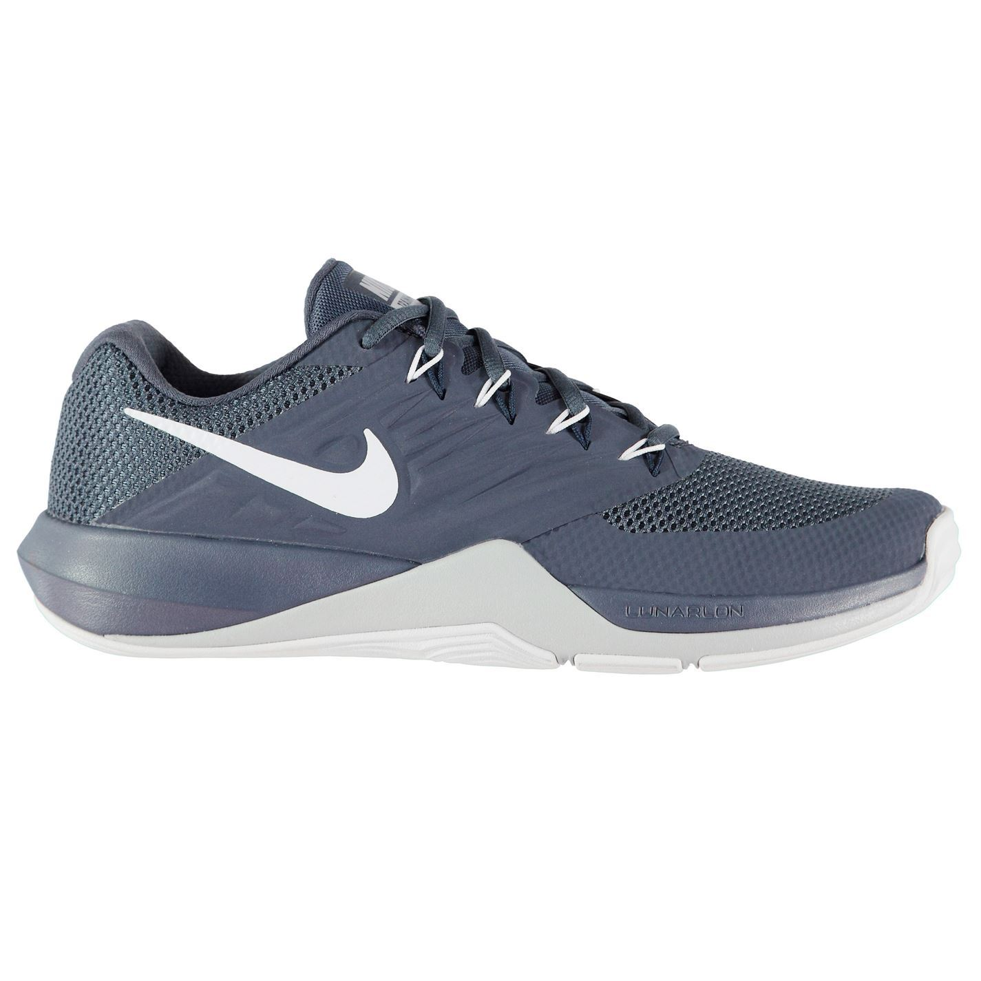 a52f05de8b73 ... Nike Lunar Prime Iron 2 Fitness Training Shoes Mens Blue White Trainers  Sneakers ...