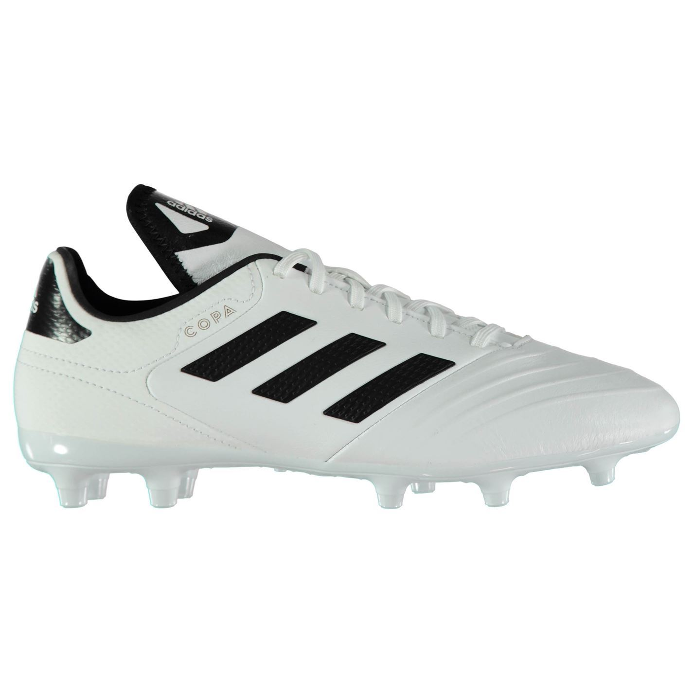 buy online 61bd6 939c8 ... adidas Copa 18.3 Firm Ground Football Boots Mens White Black Gold  Soccer Cleats ...