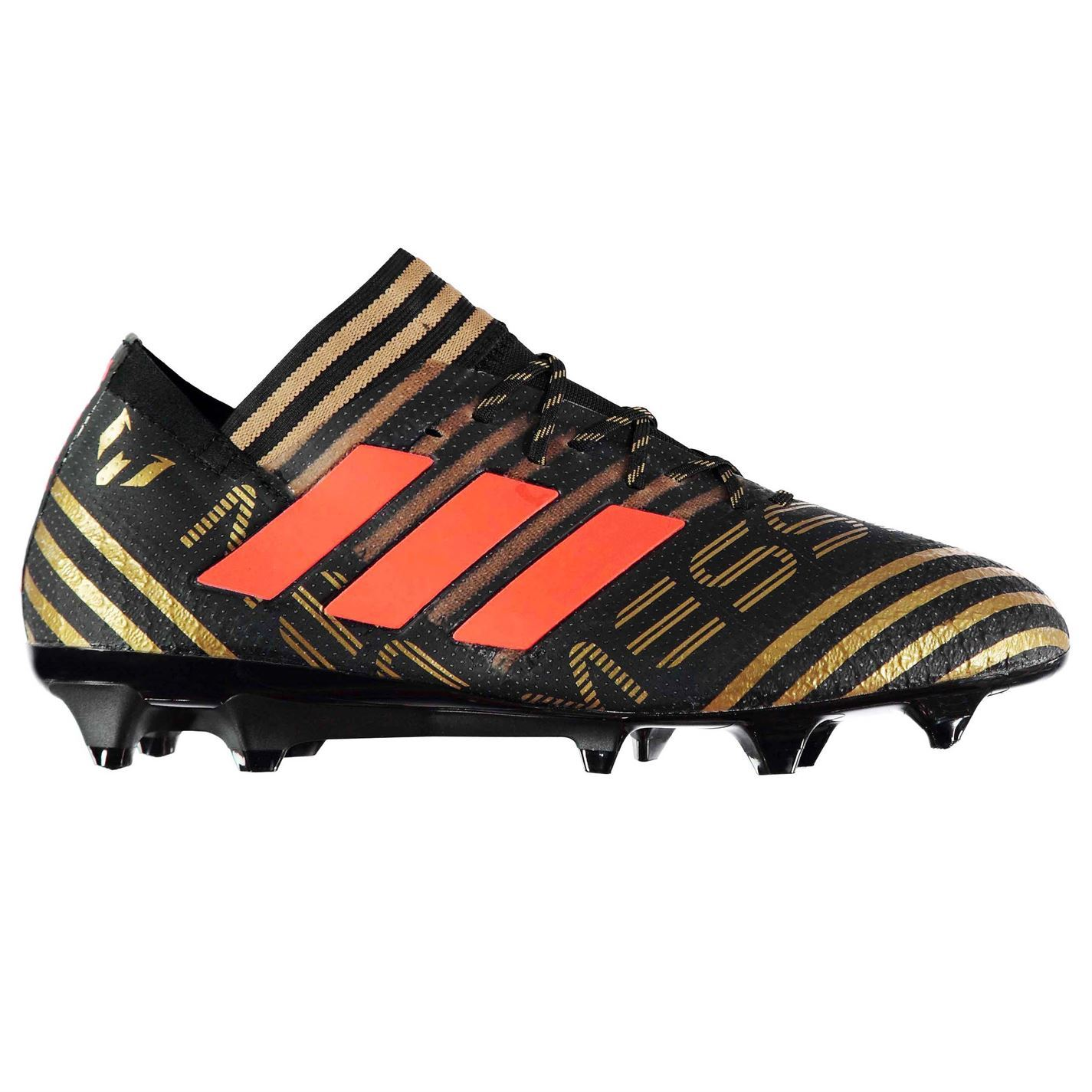 0e484e85 ... adidas Nemeziz Messi 17.1 Firm Ground Football Boots Mens Black Soccer  Cleats ...