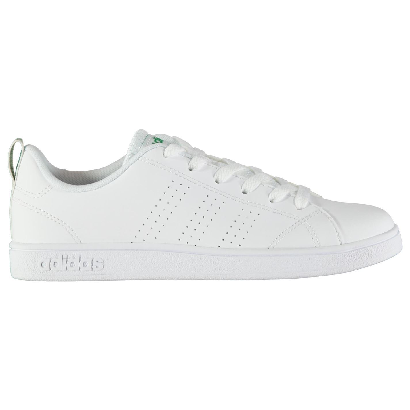 adidas Advantage Clean Boys Trainers White Green Shoes Footwear  20fbffe8e