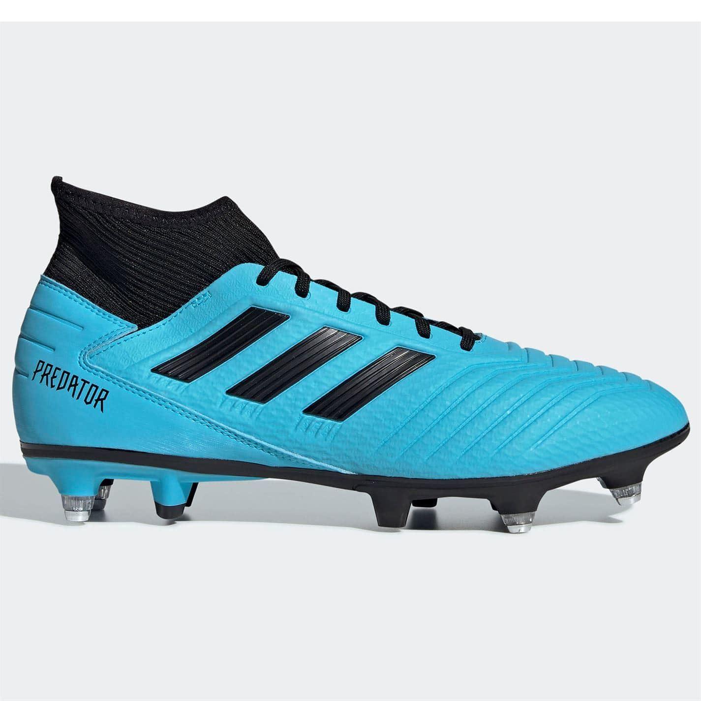 Detalles de Adidas Depredador 19.3 Botas de Fútbol Sg Hombre Cian Negro
