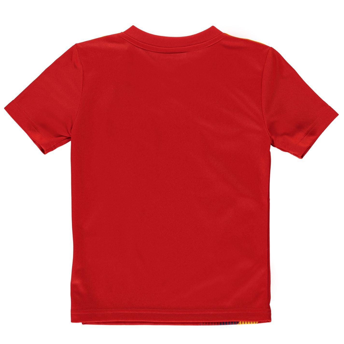 60233f3ce adidas Spain Home Jersey 2018 Juniors Red Gold Football Soccer Top Shirt  Strip