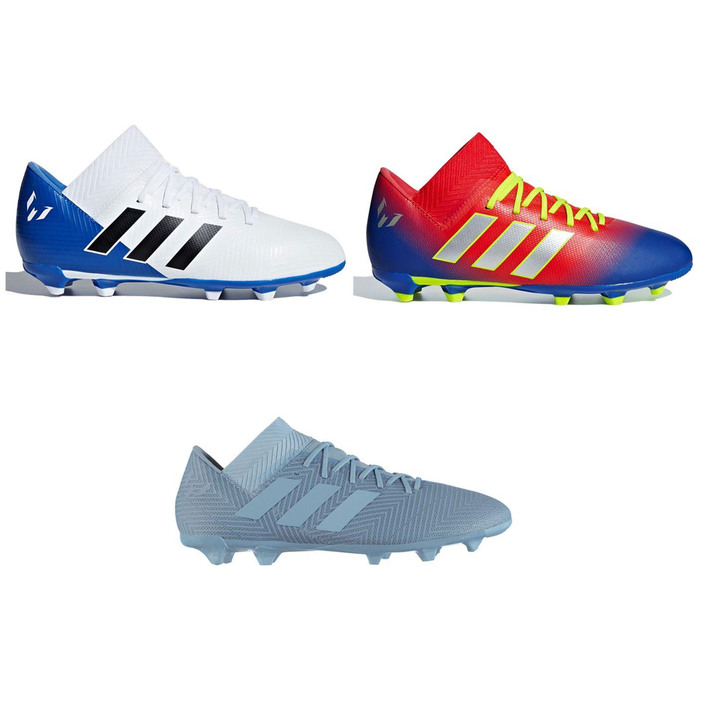 ... adidas Nemeziz Messi 18.3 FG Firm Ground Football Boots Juniors Soccer  Cleats ... 1e9d1b84572