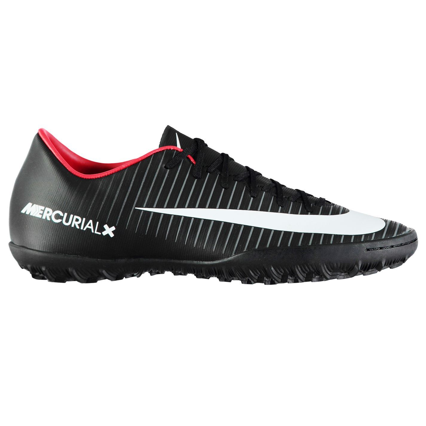 93eb79346f22 ... Nike Mercurial Victory Astro Turf Football Trainers Mens Black Soccer  Shoes ...