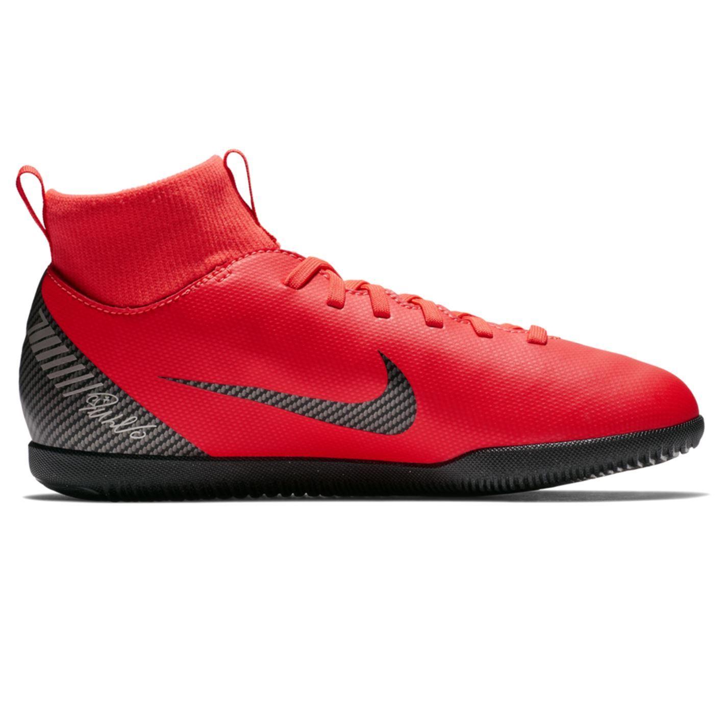 Dettagli su Nike Al Mercurio Superfly Mazza CR7 Calcetto Scarpe Sportive Junior Rosso