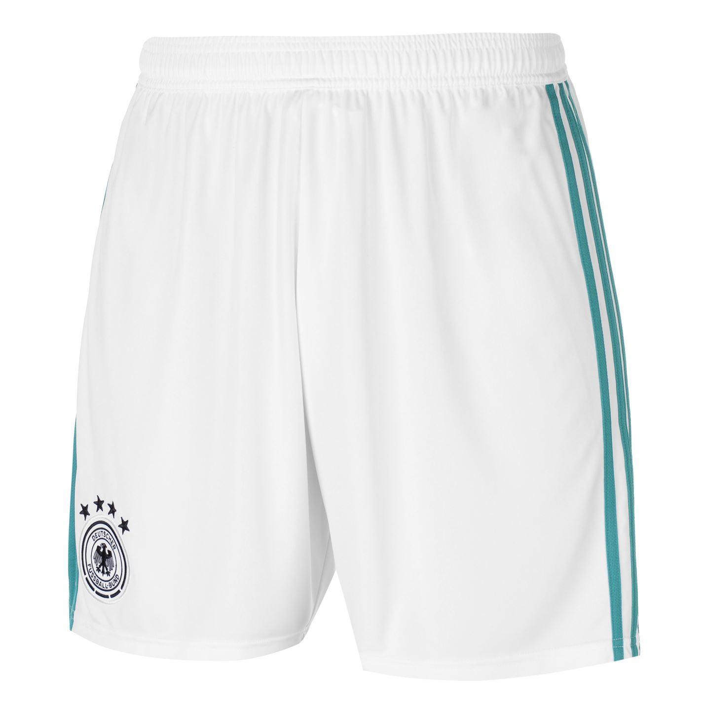f973bc25a ... adidas Germany Away Shorts FIFA World Cup 2018 Mens White Green  Football Soccer ...