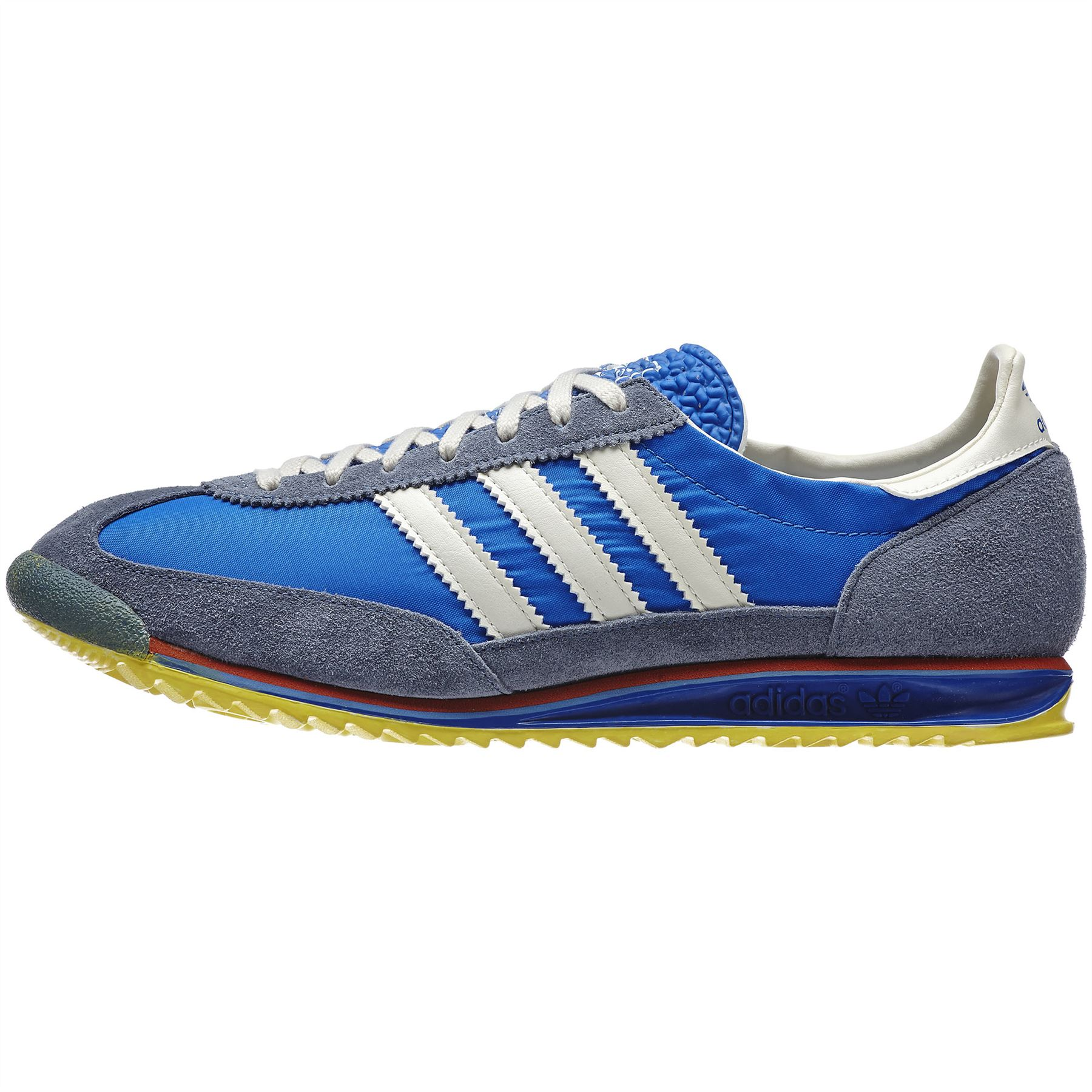 04d3ec9e7f0a ... adidas Originals SL 72 Vintage Trainers Mens Blue Retro Sneakers  Running Shoes ...