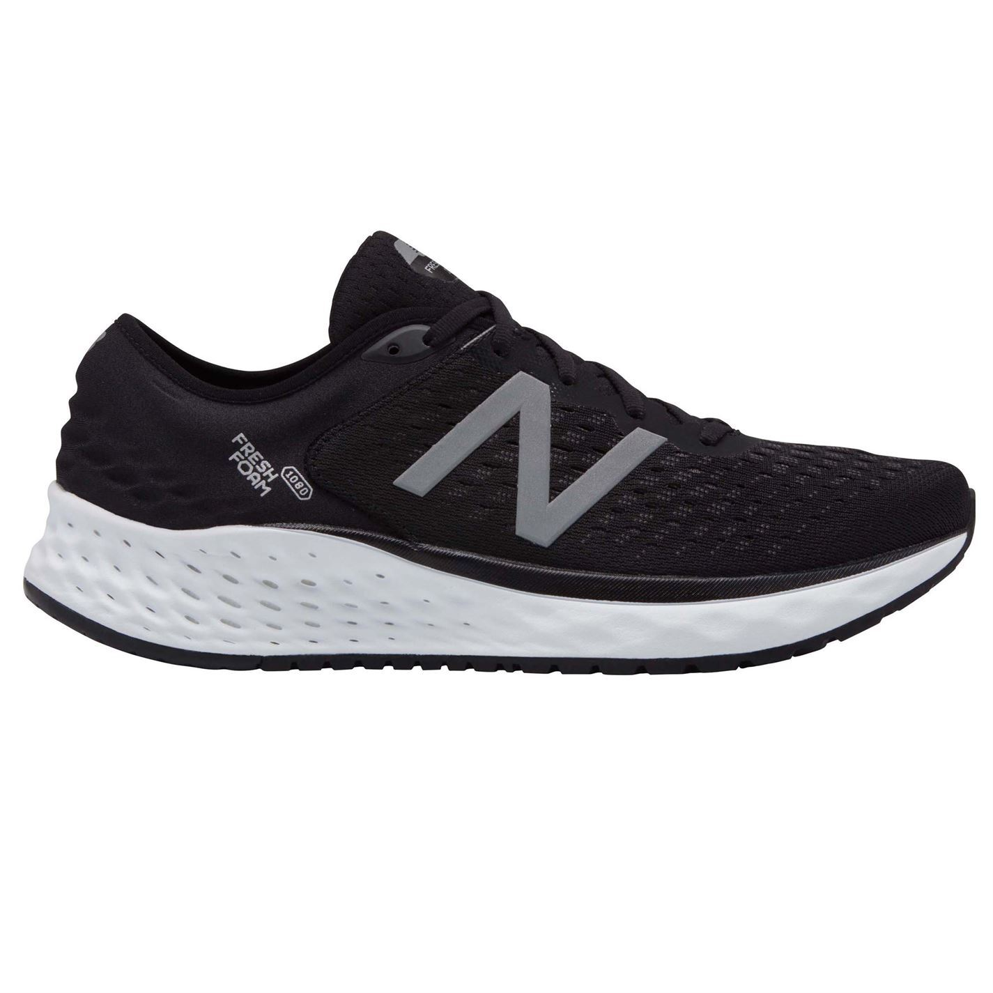 Detalles de New Balance Fresh Espuma 1080 v9 2E Hombre Zapatillas Running NegroBlanco