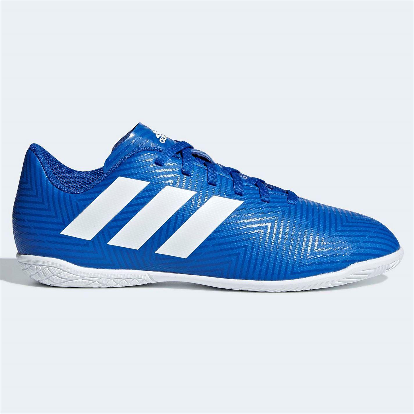 Details about adidas Nemeziz Tango 18.4 Indoor Football Trainers Juniors Blue Soccer Shoes
