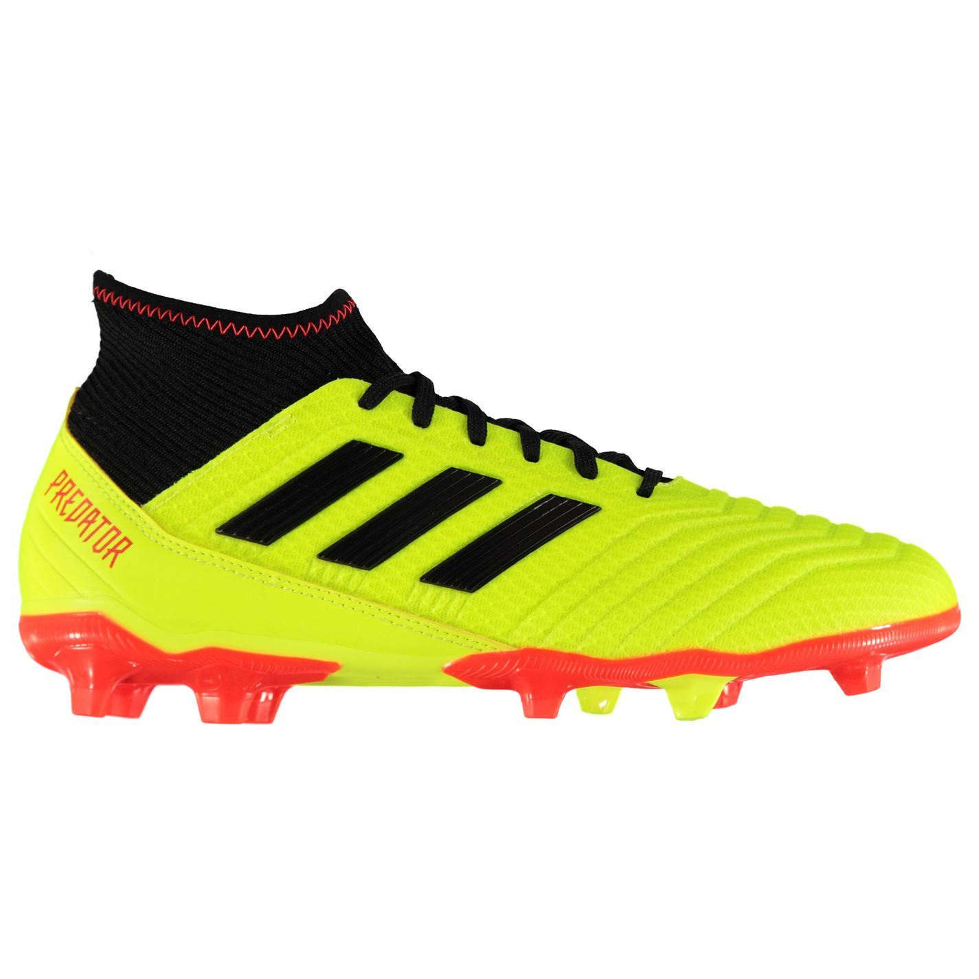 e2ea612cb56f8a ... adidas Predator 18.3 Firm Ground Football Boots Mens Yellow Black  Soccer Cleats ...