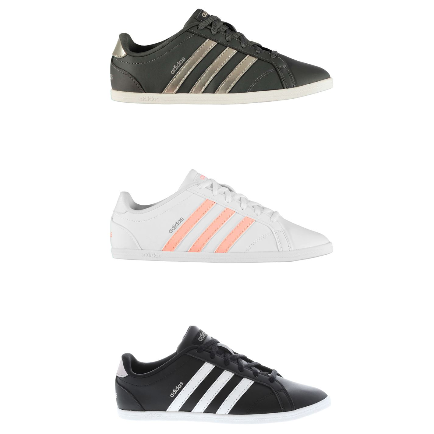 Details about adidas Coneo QT Trainers Womens Athleisure Sneakers Shoes  Footwear