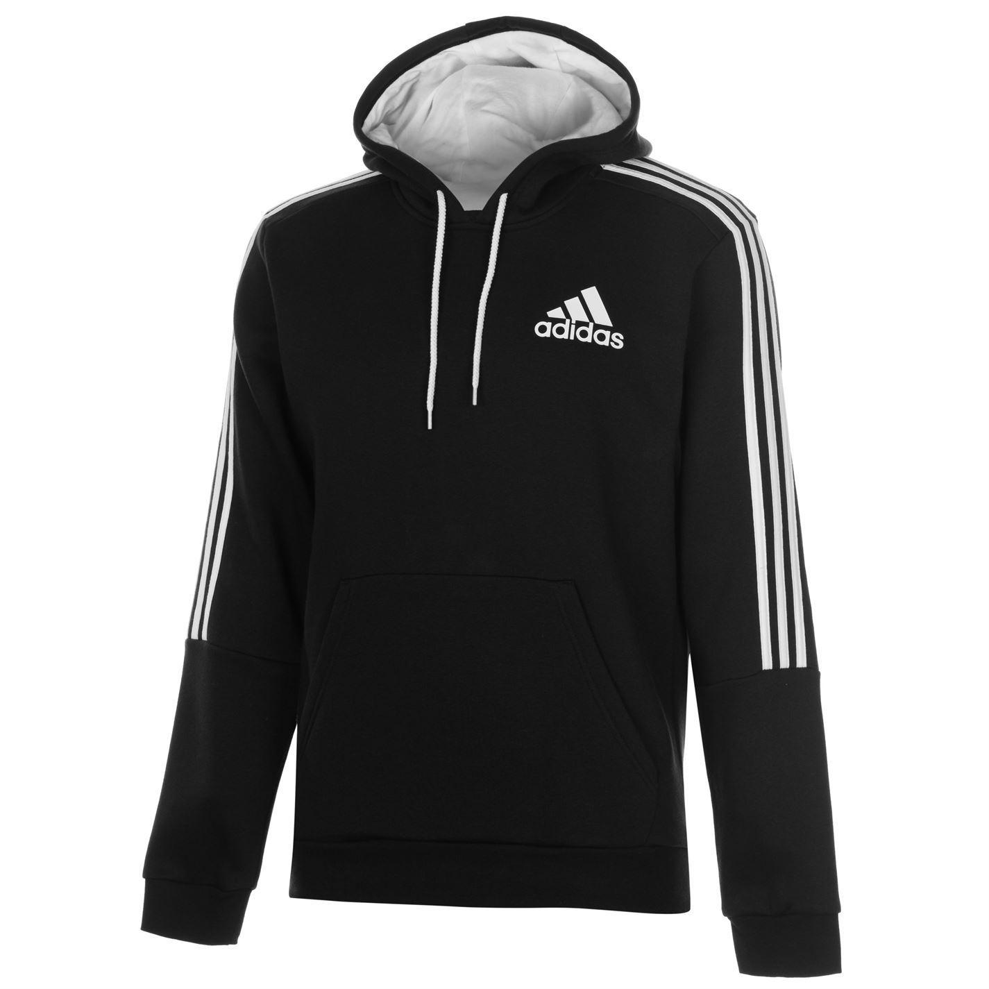 ... adidas 3 Stripes Logo Pullover Hoody Mens Hoodie Sweatshirt Sweater  Hooded Top 3034dc1d7cb