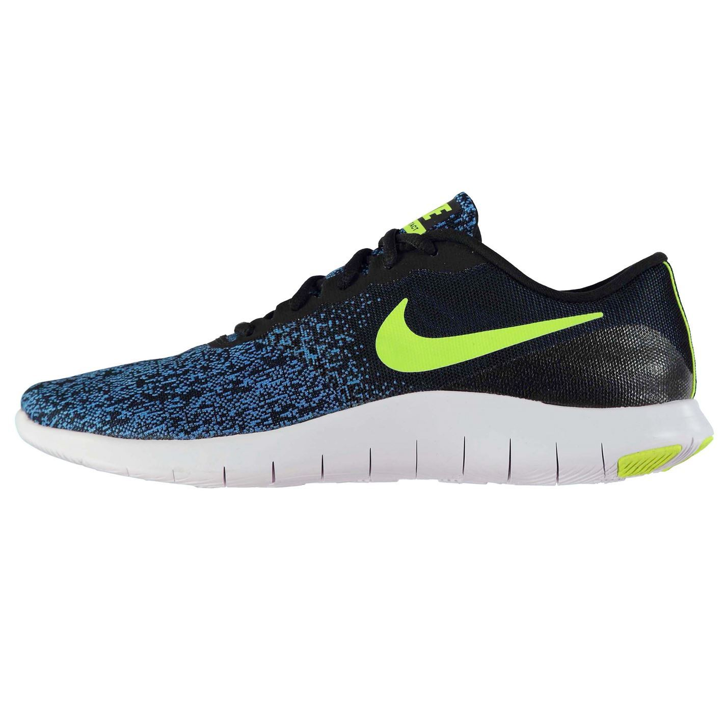low cost 896a1 74b7a Image is loading Nike-Flex-Contact-Running-Shoes-Mens-Black-Volt-