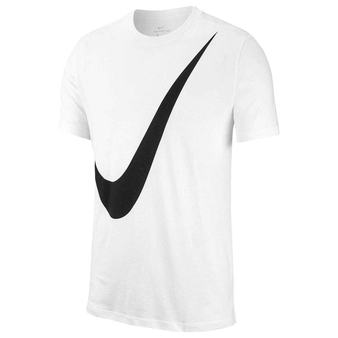 Nike Men/'s Swoosh White Sportswear Short Sleeve Graphic T-Shirt 465649-100 M-XL