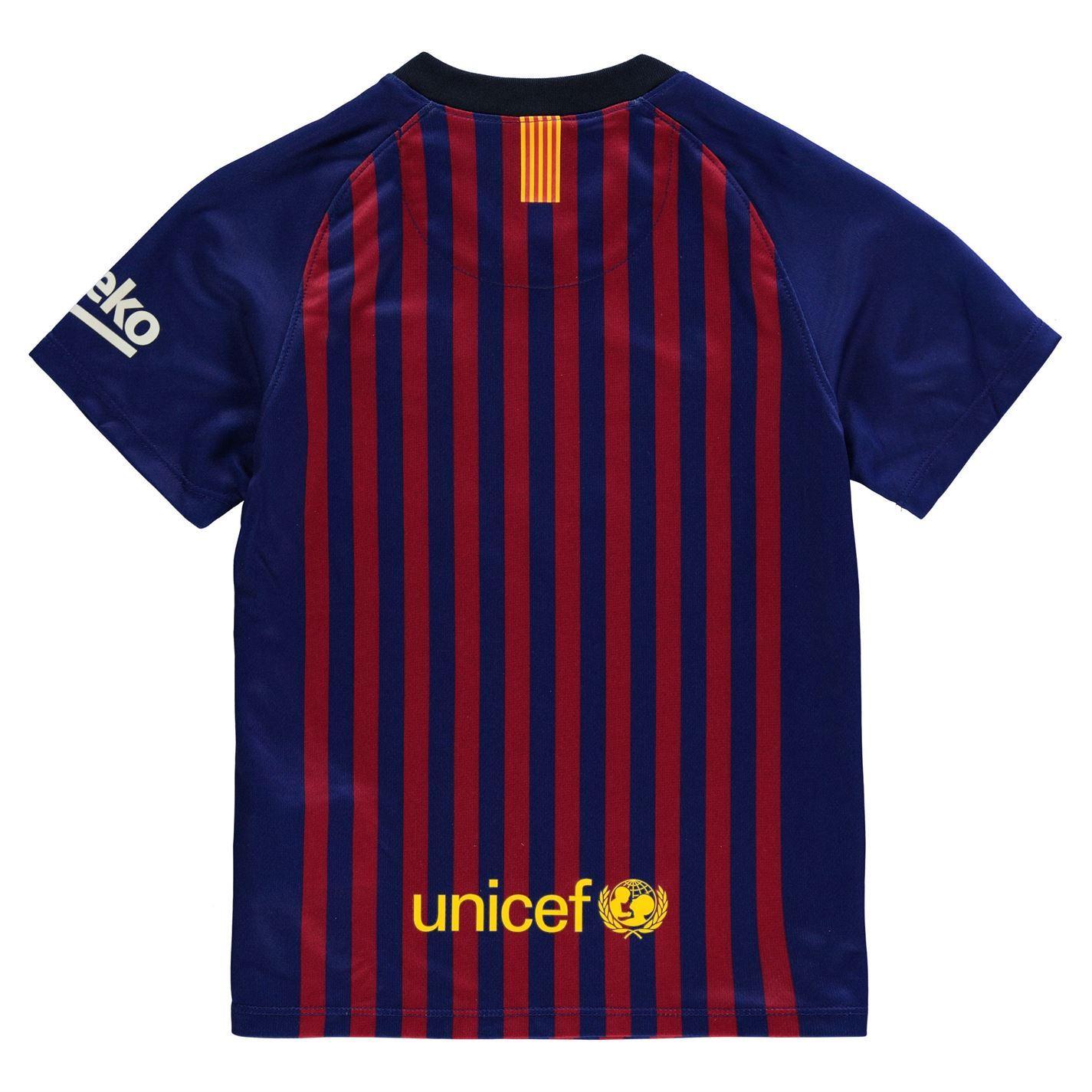4bf680ecdd2 ... Nike Barcelona Home Jersey 2018 2019 Juniors Blue Red Football Soccer  Shirt Top