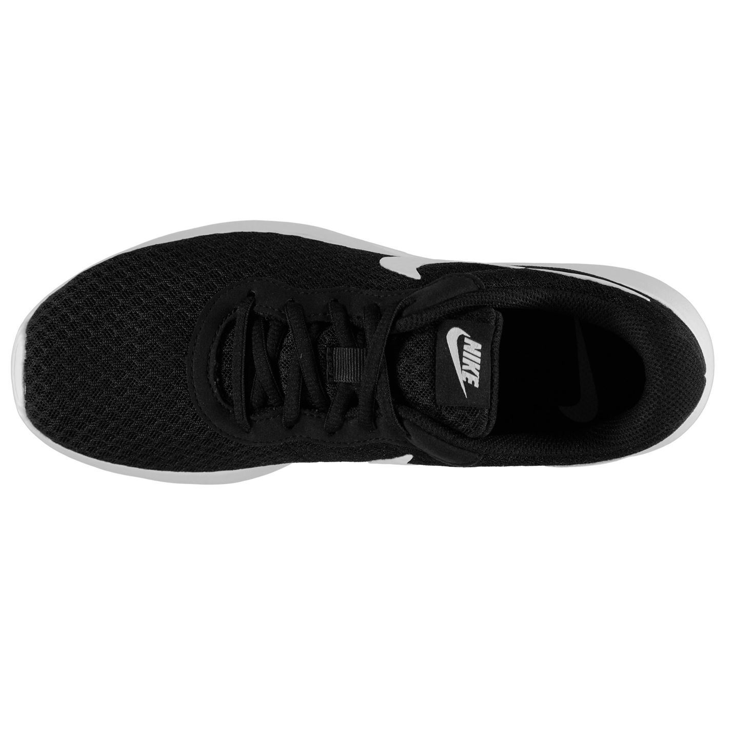 e94f56433ed ... Nike Tanjun Training Shoes Womens Black White Gym Fitness Trainers  Sneakers ...