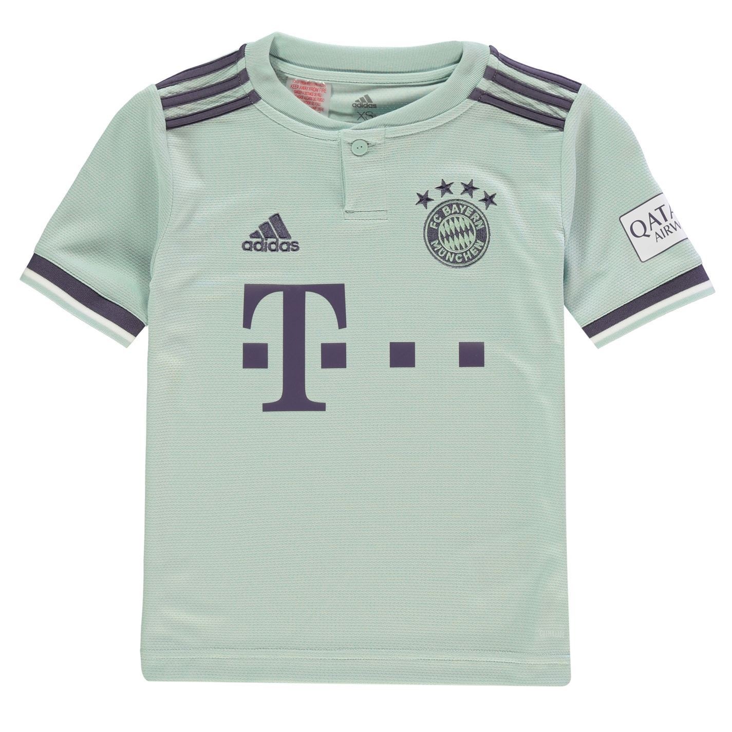 c66d73feb90 adidas Bayern Munich Away Jersey 2018 2019 Juniors Green Football Soccer  Shirt