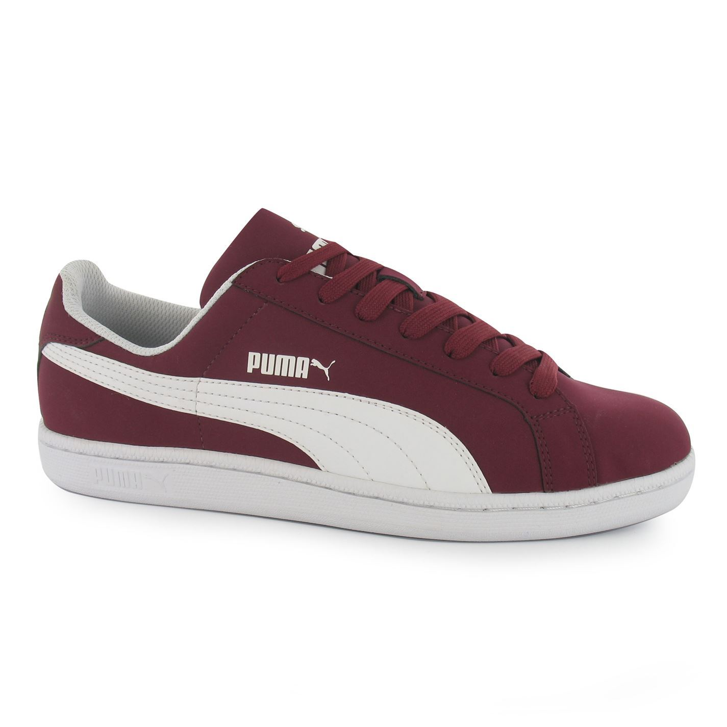 d4a28a7fc051 Details about Puma Smash Nubuck Casual Trainers Mens Burg Wht Fashion  Trainers Sneakers Shoes