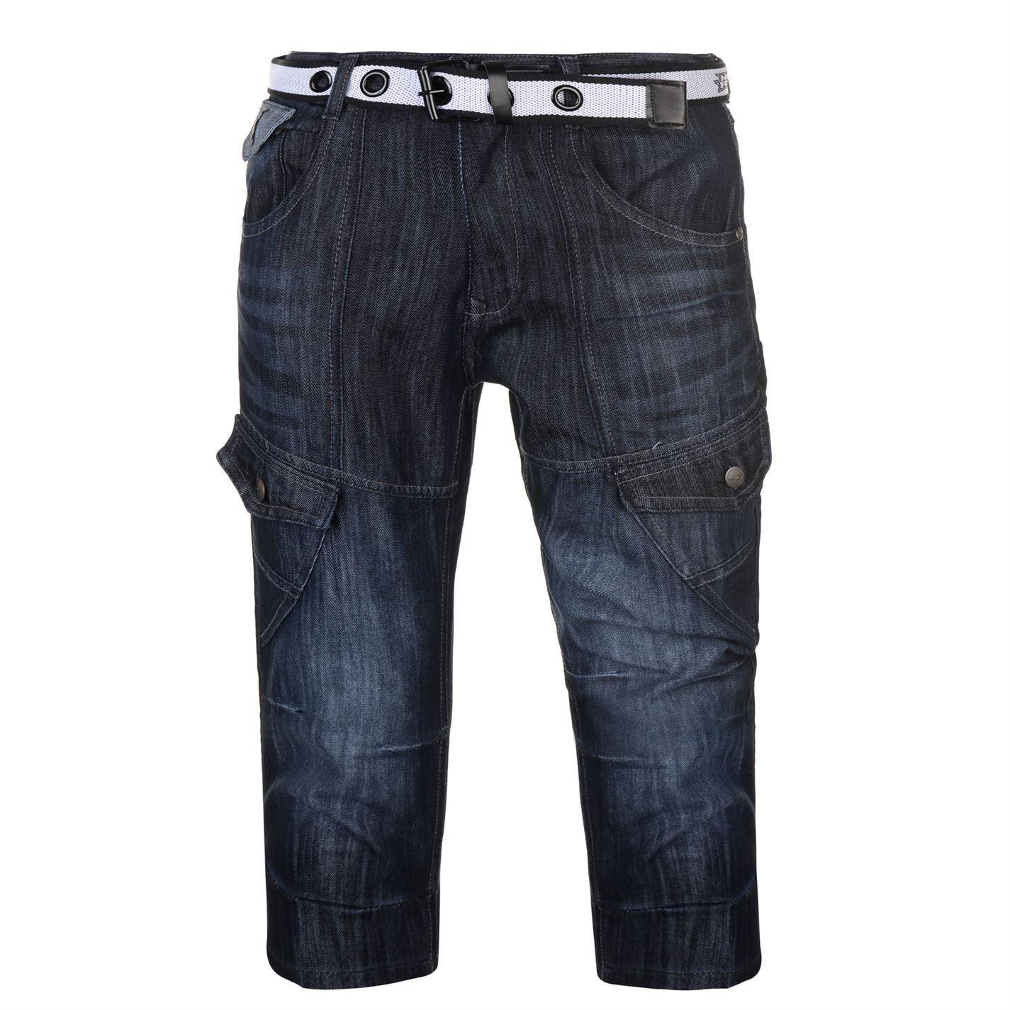 No-Fear-Belted-Cargo-Shorts-Mens-Bottoms-Short-Pants-Summerwear thumbnail 4