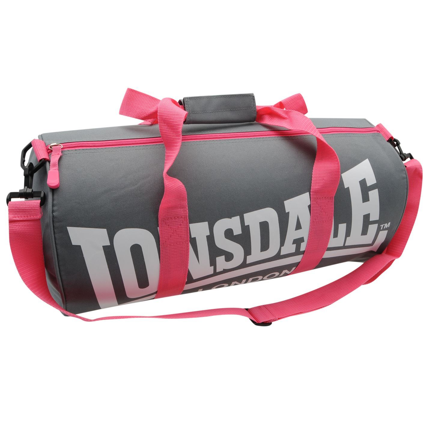 ... LONSDALE London Barrel Bag Holdall Kitbag Gym Sports Duffle f5e8ff8a841ec